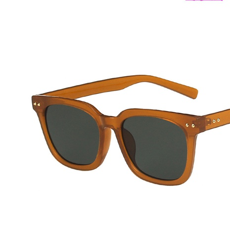 gafas de sol marrones retro del remache del estilo simple de la moda NHKD350151's discount tags