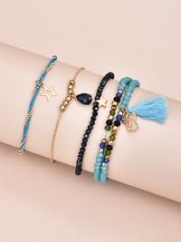 fashion new style star pendant handmade beaded women's bracelet NHAJ350008