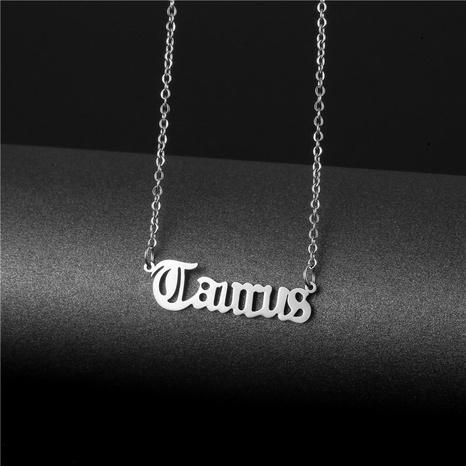 Collier en acier titane à la mode douze constellation NHAC350099's discount tags