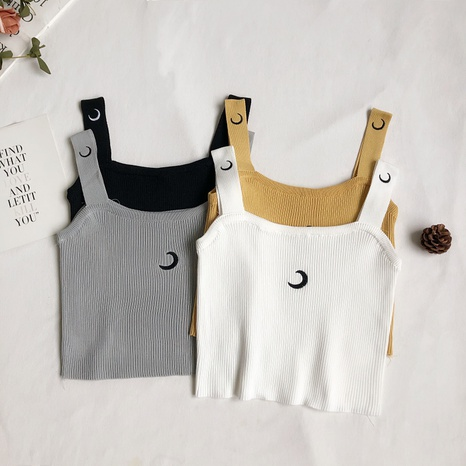fashion style new Embroidered outer knit camisole NHZN350481's discount tags