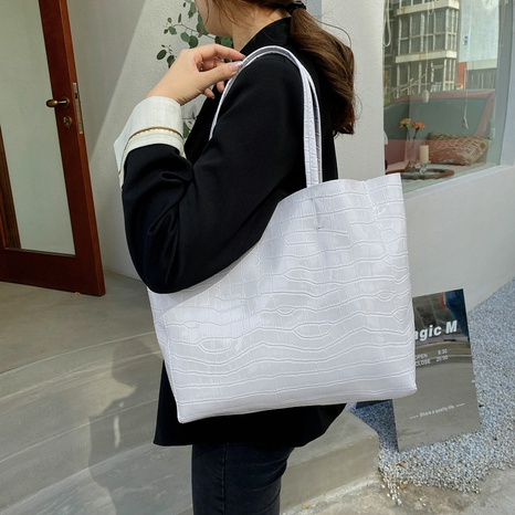 Mode Steinmuster Schulter Messenger große Kapazität tragbare Tasche Großhandel NHRU350489's discount tags