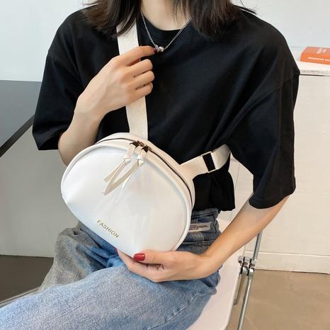 Mode einfarbig breiten Schultergurt Schulter Umhängetasche Großhandel NHRU350493's discount tags