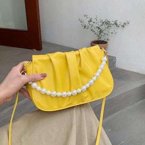 Mode Perlenkette einfarbig Schulter Umhängetasche Großhandel NHRU350505's discount tags