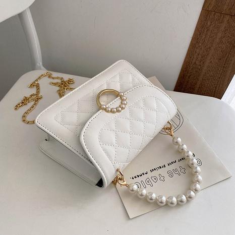 Mode Perlenkette Schulter Messenger tragbare kleine quadratische Tasche NHRU350513's discount tags