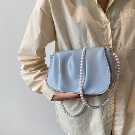 Mode einfarbige Falte Schulter Messenger tragbare Tasche Großhandel NHRU350515's discount tags