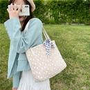 Fashion silk scarf shoulder straw bag wholesale NHRU350516