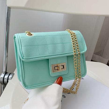 Mode einfarbige Kette Schulter Messenger kleine quadratische Tasche NHRU350522's discount tags
