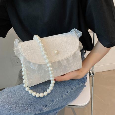 Mode Perle Kette Spitze Schulter Messenger tragbare Tasche Großhandel NHRU350535's discount tags