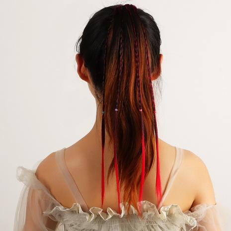 anneau de cheveux pompon en corde tressée en coton fait à la main de style ethnique rétro bohème NHAU351798's discount tags
