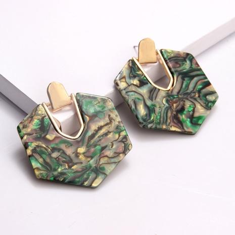 Boucles d'oreilles pendantes à six pans creux en alliage de mode NHAYN350625's discount tags