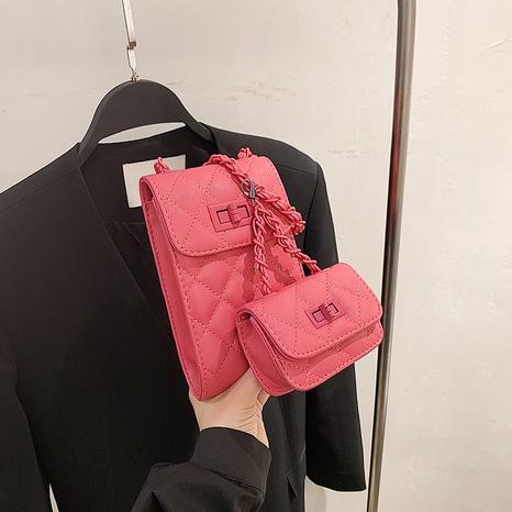 Einfarbige quadratische Handytasche im koreanischen Modestil NHJZ350688's discount tags