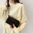 Fashion solid color shoulder messenger portable small square bag  NHJZ350785