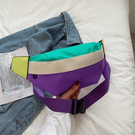 Bolso de cintura del mensajero de banda ancha de la nueva textura de moda de nylon de la moda NHJZ350872's discount tags