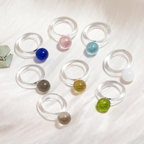 conjunto de anillos de resina esférica de cristal transparente de estilo de moda NHMO350880's discount tags