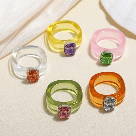 anillo de resina acrílica de diamante de color transparente de nuevo estilo de moda NHMO350881's discount tags