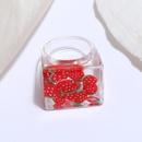 fashion new style transparent fruit series square ring set NHMO350887
