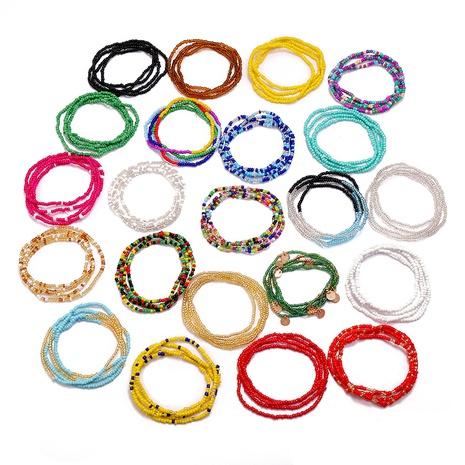 Chaîne de plage de perles de riz de couleur de vente chaude pour femmes NHMO350893's discount tags
