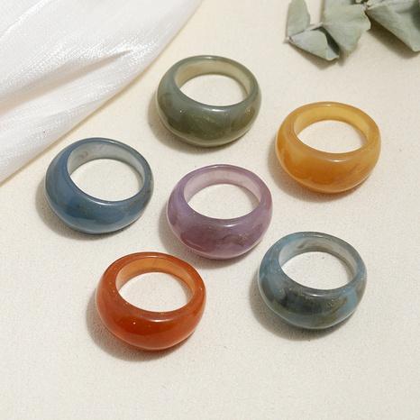 conjunto de anillos de acrílico de moda retro estilo de moda NHMO350900's discount tags