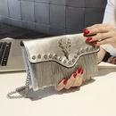 Korean tassel rhinrstone handbag wholesale NHASB350901