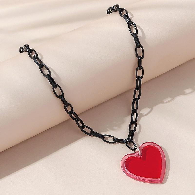 fashion style creative retro wild peach heart necklace NHPS350938