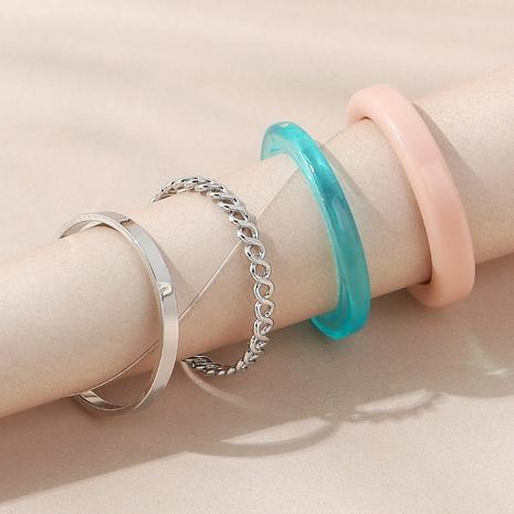 Conjunto de anillos de resina simple de moda de estilo coreano NHPS350951's discount tags