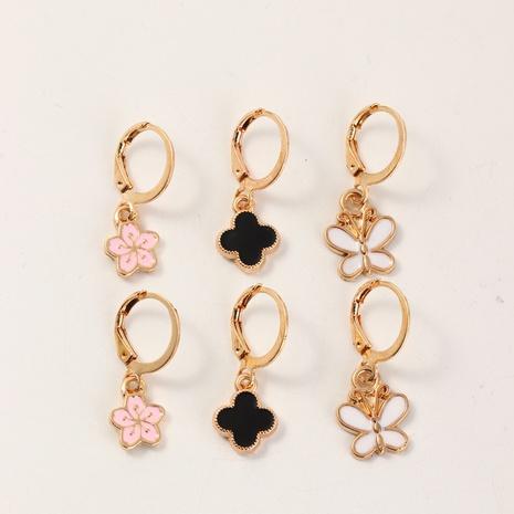 Nouveau ensemble de boucles d'oreilles papillon style mode mignon NHNU351789's discount tags
