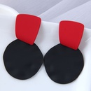 fashion metal fluorescent color wild geometric shape exaggerated earrings NHSC350986