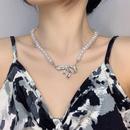 fashion bowknot large pearl necklace wholesale  NHMS351007