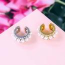 simple alloy diamond pearl ear clip wholesale NHAYN351048