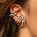 fashion multilayer retro pearl rhinestone ear clip  NHAYN351055