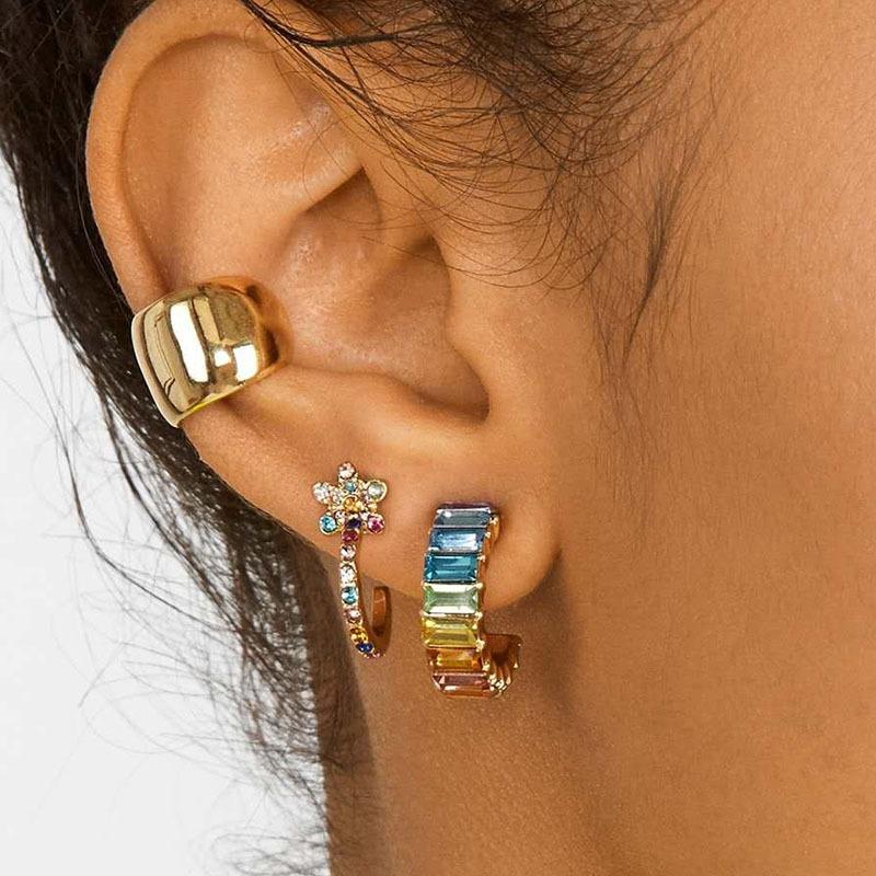 simple alloy color diamond earrings wholesale NHYAO351132