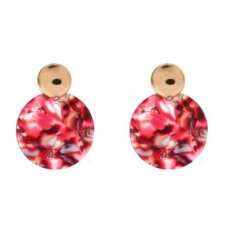 Boucles d'oreilles simples rondes en acétate acrylique en alliage de mode NHYAO351137's discount tags