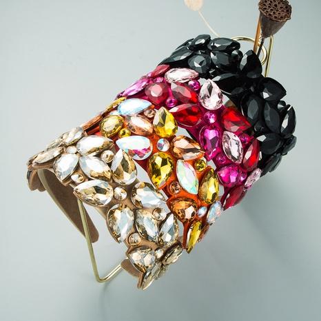 nouveau bandeau de mode en diamant en verre en forme de goutte exagéré créatif NHLN351313's discount tags