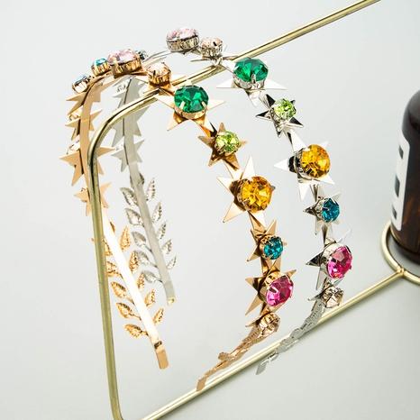Bandeau brillant en strass étoile en métal de mode coréenne NHLN351320's discount tags