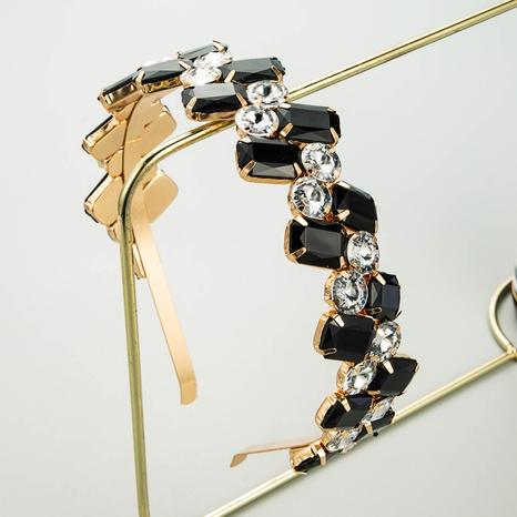 style de mode nouveau bandeau simple rétro géométrique baroque NHLN351321's discount tags
