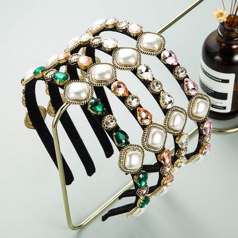 Bandeau de cheveux perle en strass en forme de goutte simple Corée NHLN351326's discount tags