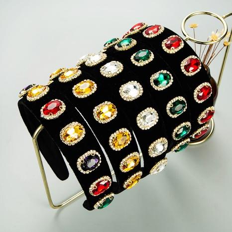 Bandeau en alliage de diamant en flanelle rétro de style baroque NHLN351325's discount tags