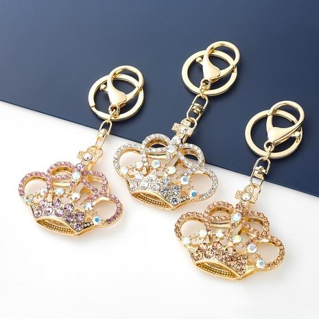 Porte-clés couronne coréenne en alliage de diamant NHJE351331's discount tags