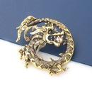 Fashion new alloy diamondstudded Chinese dragon brooch  NHJE351341