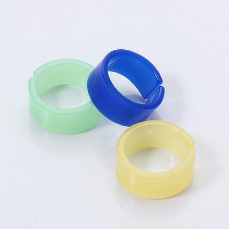 ensemble de bagues rétro en résine acrylique de style simple NHJJ351364's discount tags