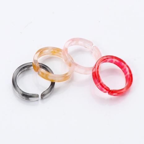 ensemble de bagues à la mode coréenne en acrylique de style de mode NHJJ351366's discount tags