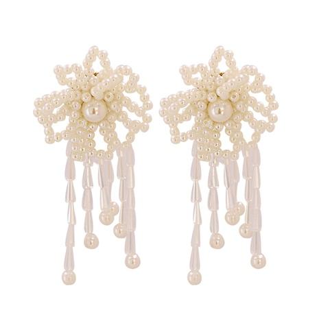 Boucles d'oreilles fleur de style baroque NHJJ351367's discount tags