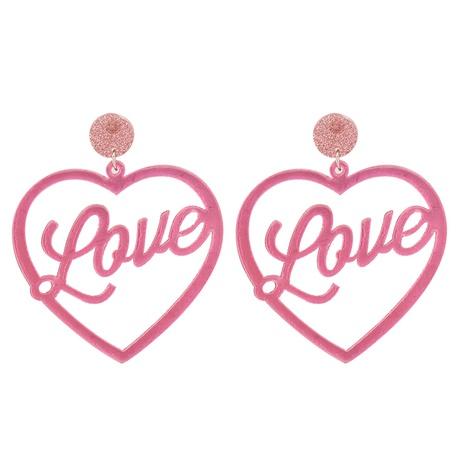 Boucles D'oreilles Plaque Acrylique Amour Géométrique Rétro Corée NHJJ351369's discount tags