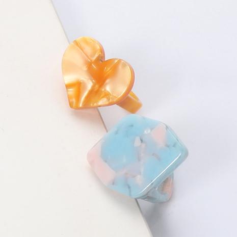 Bague d'amour en acrylique de style simple à la mode NHJJ351373's discount tags