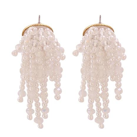 Boucles d'oreilles longues pampilles perle baroque nouvelle fleur NHJJ351375's discount tags
