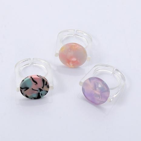 Anneau de gelée acrylique en résine de couleur bonbon de style coréen NHJJ351377's discount tags