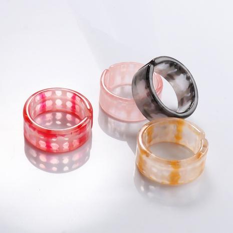 bague coréenne de quatre pièces en résine acrylique de style simple NHJJ351378's discount tags