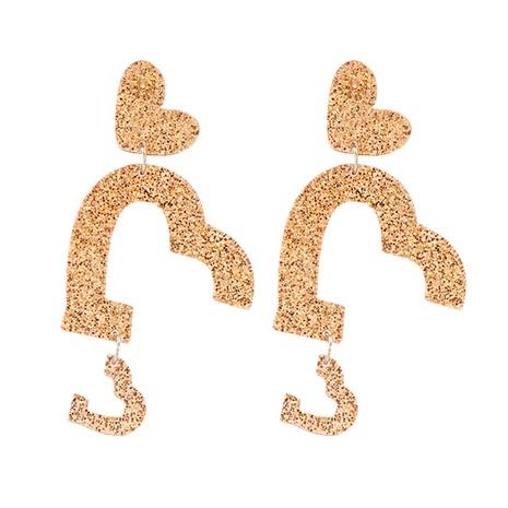 Boucles d'oreilles plaque acrylique amour géométrique rétro coréen NHJJ351379's discount tags