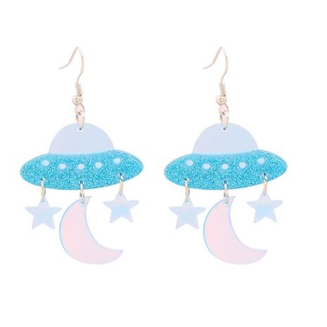 Boucles d'oreilles coréen rétro géométrique papillon volant étoile lune NHJJ351380's discount tags