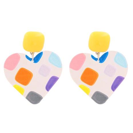 Boucles d'Oreilles Rondes Amour Géométrique Rétro Corée NHJJ351381's discount tags